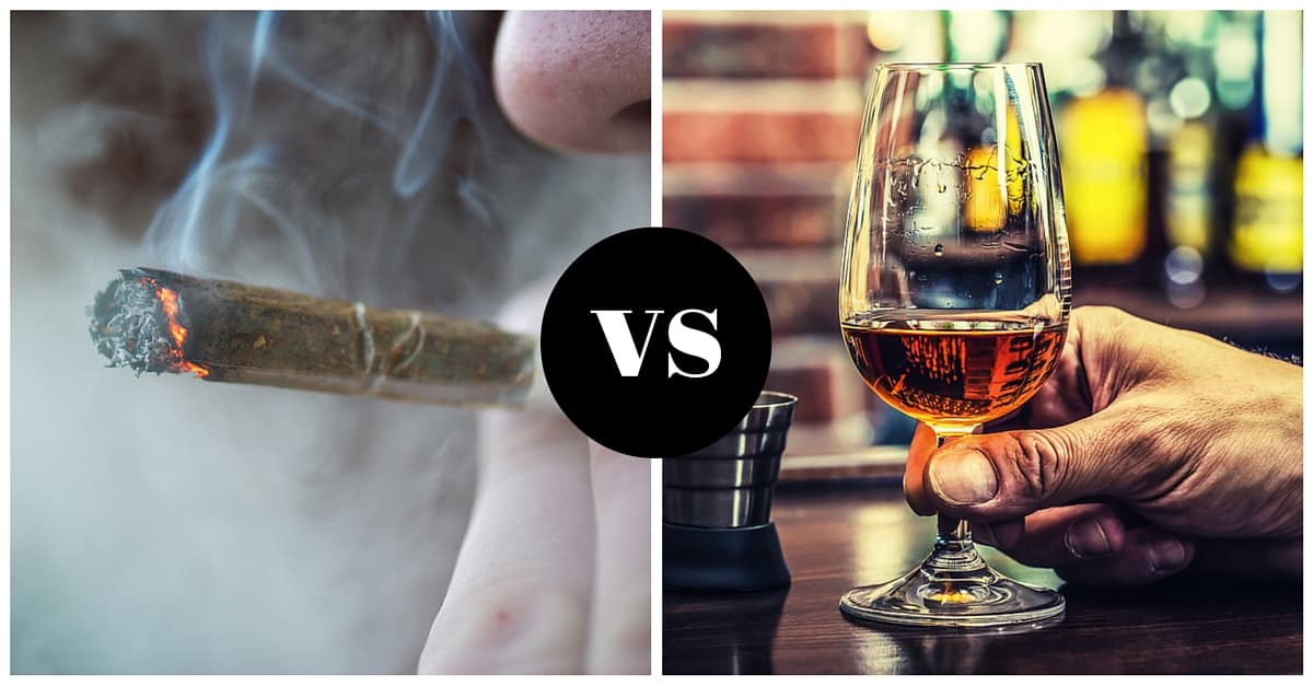 Image result for marijuana vs. alcohol