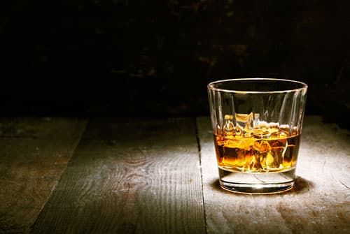 glass of alcohol whiskey bourbon scotch