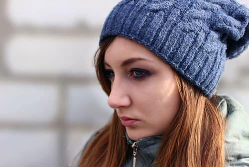 sad girl struggling with crack addiction