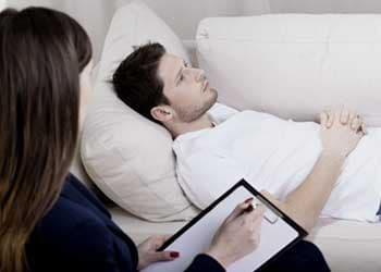 Man in therapy for Librium addiction treatment
