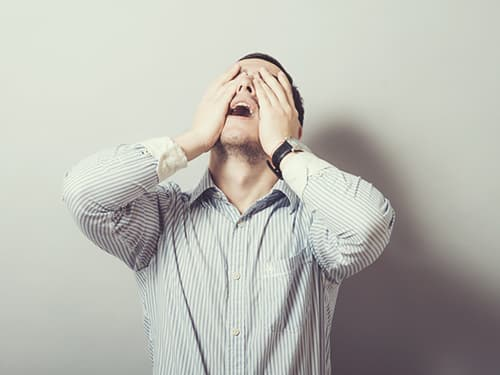 Man hallucinating due to MXE Use