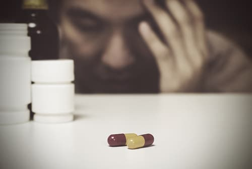 Man addicted to pills