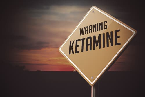 Warning ketamine sign