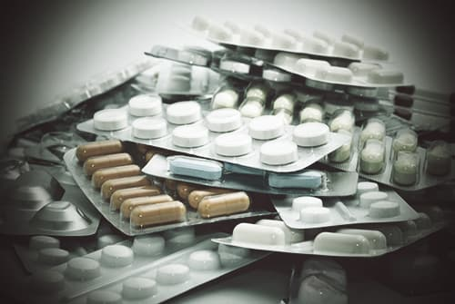 various pills stacked