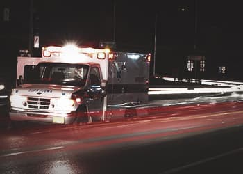 Ambulance rushing to scene