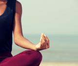 woman meditating rehab
